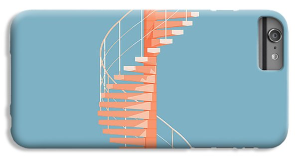 Pattern iPhone 7 Plus Case - Helical Stairs by Peter Cassidy