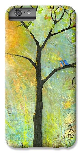 Hello Sunshine Tree Birds Sun Art Print IPhone 7 Plus Case by Blenda Studio