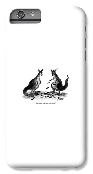 Kangaroo iPhone 7 Plus Case - He's Got To Be In Here Somewhere! by Kenneth Mahood