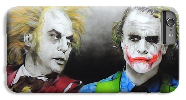 Health Ledger - ' Hey Why So Serious? ' IPhone 7 Plus Case by Christian Chapman Art