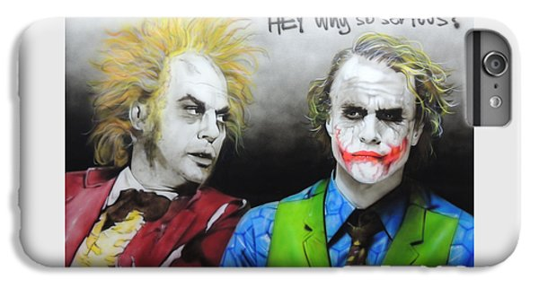 Heath Ledger iPhone 7 Plus Case - Hey, Why So Serious? by Christian Chapman Art