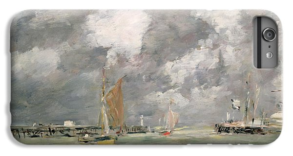 Boats iPhone 7 Plus Case - High Tide At Trouville by Eugene Louis Boudin