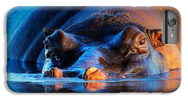 Hippopotamus  At Sunset IPhone 7 Plus Case by Johan Swanepoel