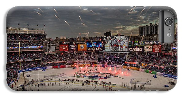 Hockey iPhone 7 Plus Case - Hockey At Yankee Stadium by David Rucker