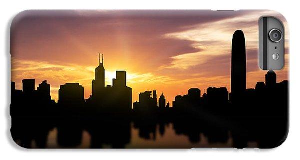 Hong Kong iPhone 7 Plus Case - Hong Kong Sunset Skyline  by Aged Pixel