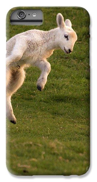 Sheep iPhone 7 Plus Case - Hop Hop Hop by Angel Ciesniarska