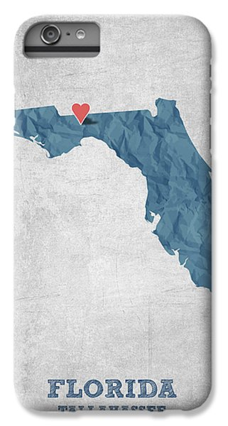 I Love Tallahassee Florida - Blue IPhone 7 Plus Case by Aged Pixel