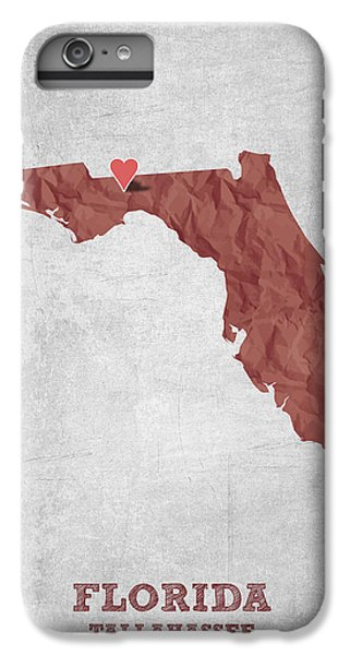 I Love Tallahassee Florida - Red IPhone 7 Plus Case by Aged Pixel