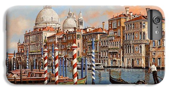 Boats iPhone 7 Plus Case - Il Canal Grande by Guido Borelli