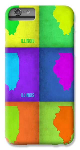 University Of Illinois iPhone 7 Plus Case - Illinois Pop Art Map 1 by Naxart Studio
