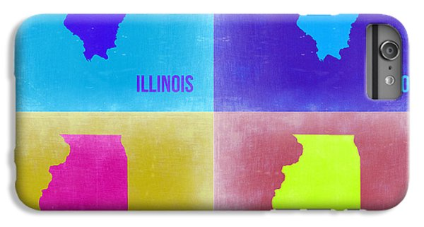 University Of Illinois iPhone 7 Plus Case - Illinois Pop Art Map 2 by Naxart Studio