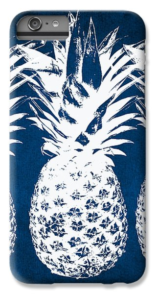 Indigo And White Pineapples IPhone 7 Plus Case by Linda Woods
