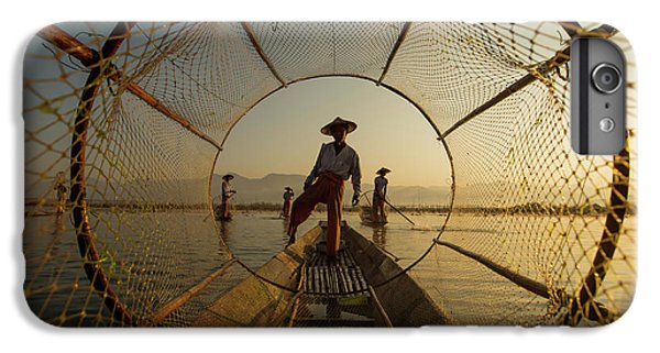 Boats iPhone 7 Plus Case - Inle Fisherman by Gunarto Song