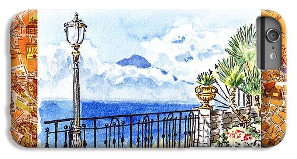 Italy Sketches Sorrento View On Volcano Vesuvius  IPhone 7 Plus Case