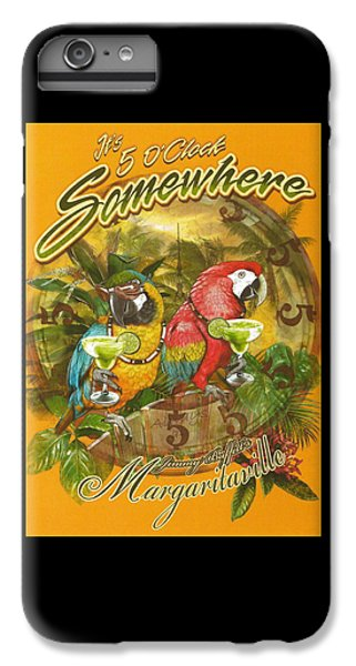 Parrot iPhone 7 Plus Case - It's 5 O'clock Somewhere by Desiderata Gallery