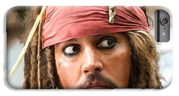 Johnny Depp iPhone 7 Plus Case - Jack Sparrow by Paul Tagliamonte