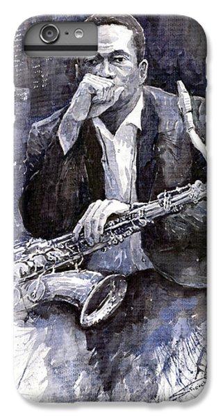 Jazz iPhone 7 Plus Case - Jazz Saxophonist John Coltrane Black by Yuriy Shevchuk