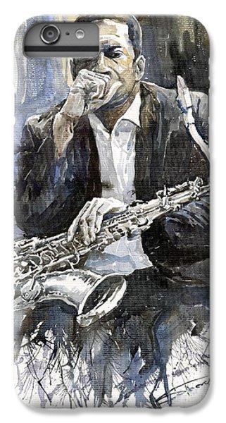 Jazz iPhone 7 Plus Case - Jazz Saxophonist John Coltrane Yellow by Yuriy Shevchuk