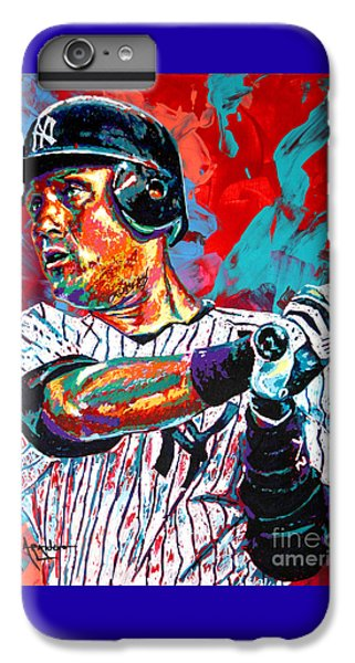 Derek Jeter iPhone 7 Plus Case - Jeter At Bat by Maria Arango