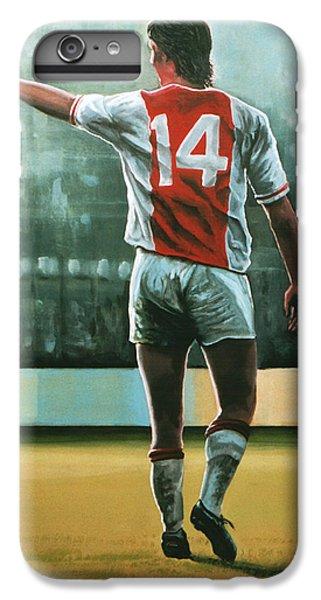 Soccer iPhone 7 Plus Case - Johan Cruijff Nr 14 Painting by Paul Meijering