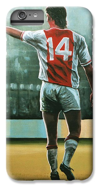 Johan Cruijff Nr 14 Painting IPhone 7 Plus Case by Paul Meijering