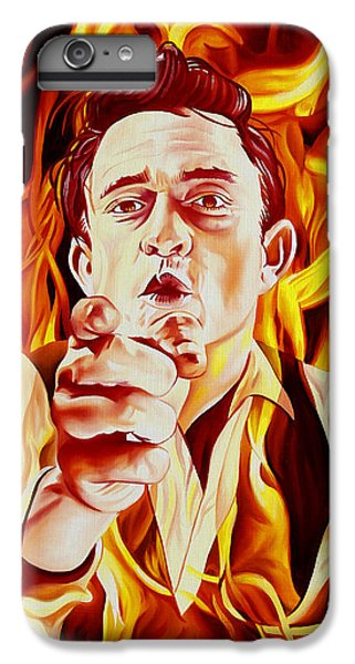 Johnny Cash And It Burns IPhone 7 Plus Case by Joshua Morton