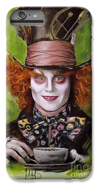 Johnny Depp iPhone 7 Plus Case - Johnny Depp As Mad Hatter by Melanie D