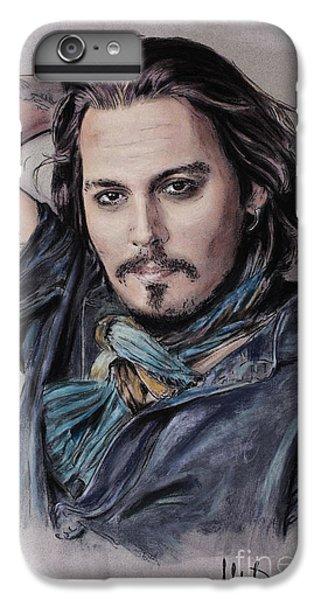 Johnny Depp IPhone 7 Plus Case by Melanie D
