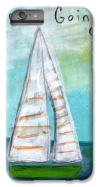 Sailboat iPhone 7 Plus Case - Keep Going- Sailboat Painting by Linda Woods