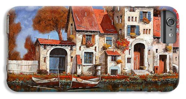 Boats iPhone 7 Plus Case - La Cascina Sul Lago by Guido Borelli