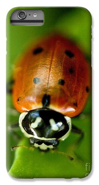 Ladybug iPhone 7 Plus Case - Ladybug On Leaf by Iris Richardson