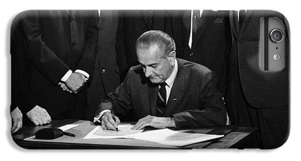 Washington D.c iPhone 7 Plus Case - Lbj Signs Civil Rights Bill by Underwood Archives Warren Leffler