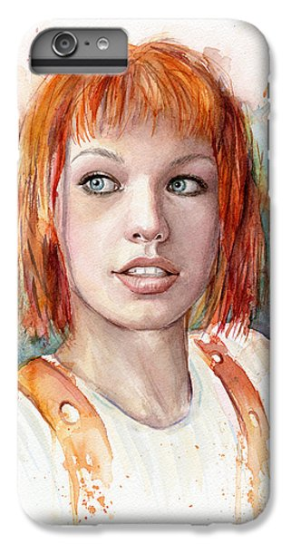Dallas iPhone 7 Plus Case - Leeloo Portrait Multipass The Fifth Element by Olga Shvartsur