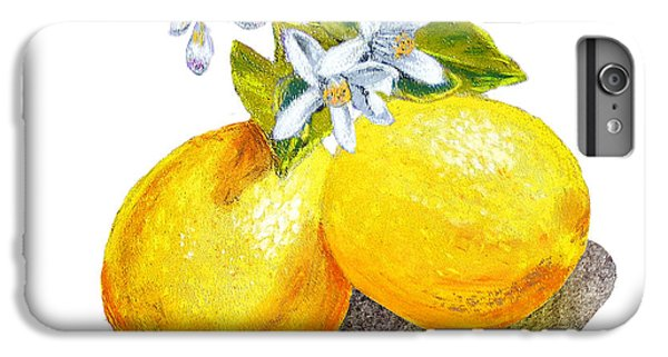 IPhone 7 Plus Case featuring the painting Lemons And Blossoms by Irina Sztukowski