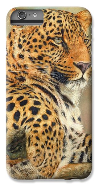 Wolves iPhone 7 Plus Case - Leopard by David Stribbling