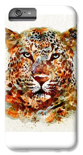Leopard Head Watercolor IPhone 7 Plus Case by Marian Voicu