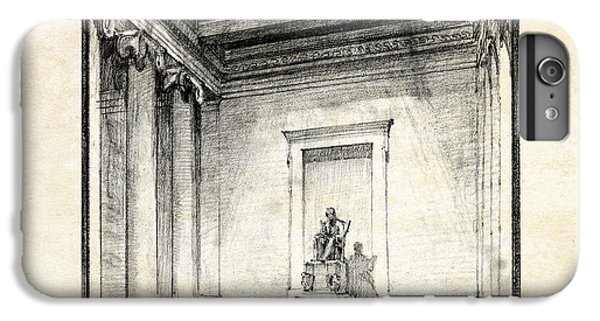 Lincoln Memorial Sketch IIi IPhone 7 Plus Case by Gary Bodnar
