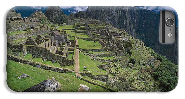 Llama At Machu Picchus Ancient Ruins IPhone 7 Plus Case by Chris Caldicott