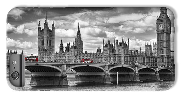 Big Ben iPhone 7 Plus Case - London - Houses Of Parliament And Red Buses by Melanie Viola