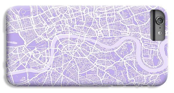 England iPhone 7 Plus Case - London Map Lilac by Michael Tompsett