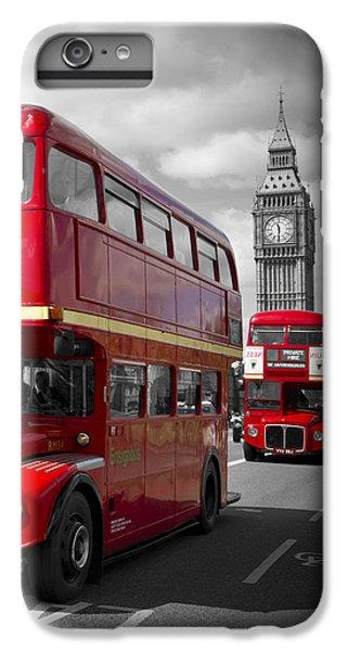 London Red Buses On Westminster Bridge IPhone 7 Plus Case by Melanie Viola
