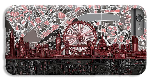 London Skyline Abstract 6 IPhone 7 Plus Case by Bekim Art