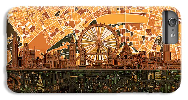 London Skyline Abstract 7 IPhone 7 Plus Case by Bekim Art
