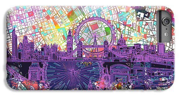 London Skyline Abstract IPhone 7 Plus Case by Bekim Art