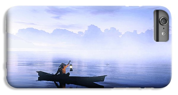 Boats iPhone 7 Plus Case - Lonely Fisherman by Cie Shin