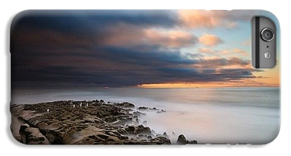 iPhone 7 Plus Case - Long Exposure Sunset Of An Incoming by Larry Marshall