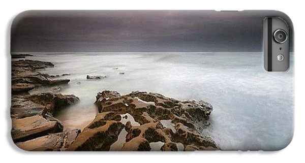iPhone 7 Plus Case - Long Exposure Sunset On A Dark Stormy by Larry Marshall