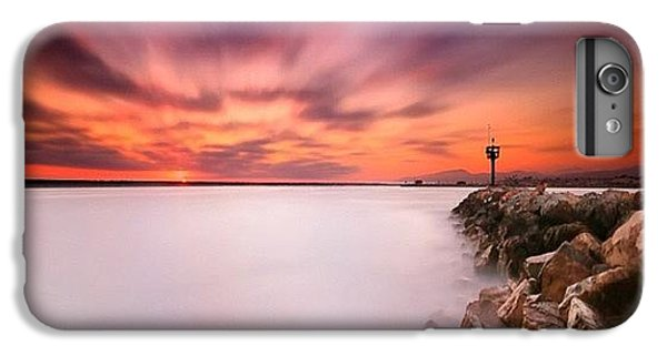 iPhone 7 Plus Case - Long Exposure Sunset Shot At A Rock by Larry Marshall