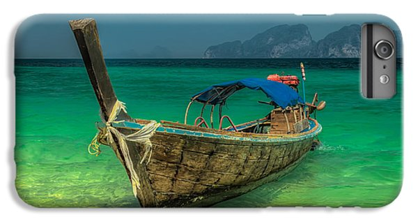 Boats iPhone 7 Plus Case - Longboat by Adrian Evans