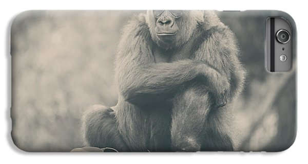Gorilla iPhone 7 Plus Case - Looking So Sad by Laurie Search
